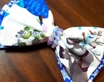 Frozen themed bow