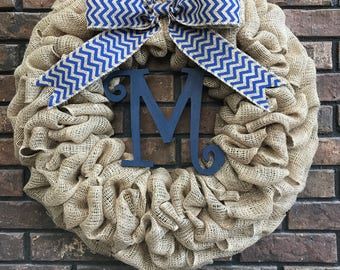 Simply Rustic 18 or 24 inch Burlap Wreath