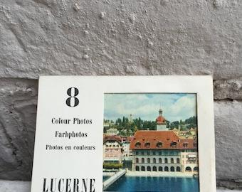 Pack of 8 vintage photos of Lucerne - Switzerland