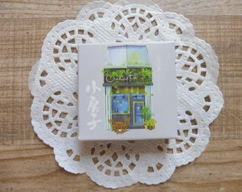 Stickers vintage 45 pezzi/pieces set small houses, small house