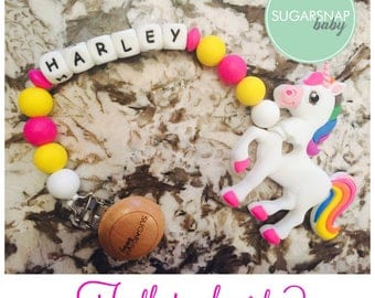 Personalized teether - Unicorn chew toy - silicone teether - BPA Free - teether -autism toy- toddler toy - newborn- baby shower gift toddler