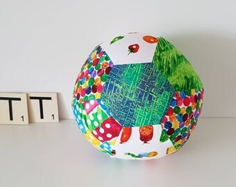 Fabric Balloon Cover - The Very Hungry Caterpillar - Balloon Cover - Fabric Bouncing Balloon Cover - Green/Blue Centre