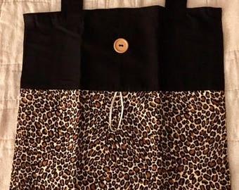 Leopard Print Fold Up Tote Bag