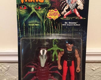 Kenner Swamp Thing Dr. Deemo With Serpent BioMask Figure, MOC, 1990!