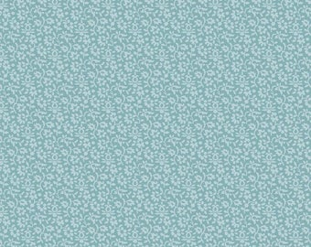 Blue Lace Looking Fabric - Riley Blake Blue Lace Fabric - Dusty Blue Floral Fabric