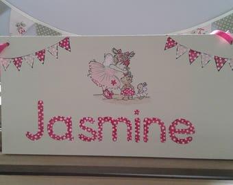 Children's personalized wooden sign. Christmas gift. Birthdays. Christenings/baptisms. Baby gift etc. UK seller.