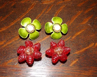 Vintage Signed Hobe and W. Germany Earrings