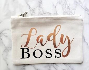 Lady boss make up bag   Birthday Present   Wash bag   Personalised gift   girl power   Fun bag   gift for her   storage bag