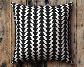Black and White Pillow Case, Cushion Cover, Pillow Sham