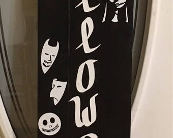 Wooden Nightmare before Christmas inspired sign