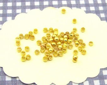 200 crimp 2mm Golden AG01 nickel beads