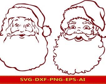 60 % OFF, Santa Claus Clipart, Christmas SVG, Santa SVG, dxf, ai, eps, png, Winter Christmas Wall Art, Santa Vector Files, Santa digital