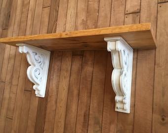 Large Rustic Corbel Shelf (You pick the design)