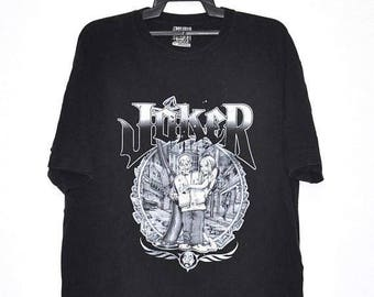 On Sale 25% Vintage Joker Big Spell out Logo Tshirt Metal Rap Hip Hop Shirt Size Xlarge Made In USA