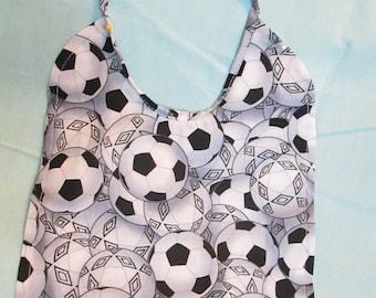 Soccer Reversible 100% Cotton Baby Bib