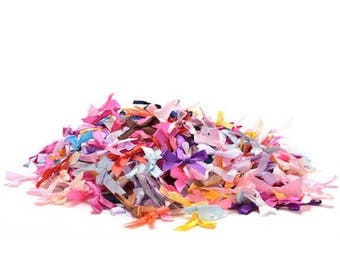 20 ribbon bow embellishment scrapbooking wedding multicolor 35 mm