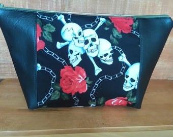 skulls cosmetic bag wash bag make up bag