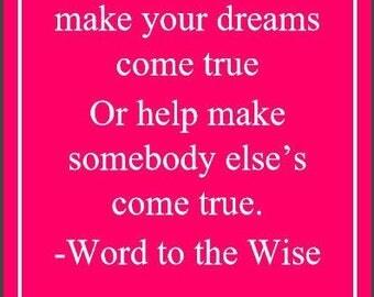 Make your dreams digital download, Digital Priting, Digital download, Wall Art, Positve quotes
