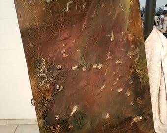 Mixed media art image unique acrylic abstract texture image 50 cm x 70 cm pigments