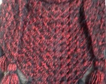 Crocheted shawl or scarf