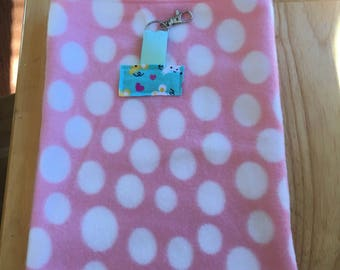 VALENTINES SALE: Small Pet Pouch - Pink Dots