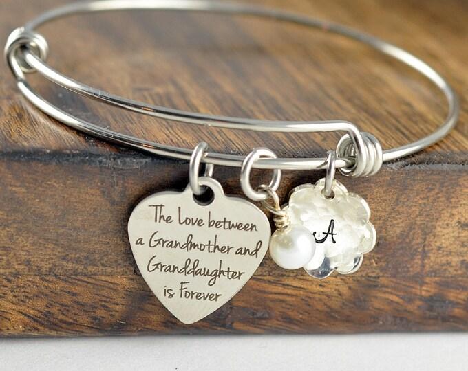 Granddaughter Bracelet, Grandmother Gift Personalized, Grandmother Jewelry, Grandmother Gift, Grandmother Bracelet, Granddaughter Gift