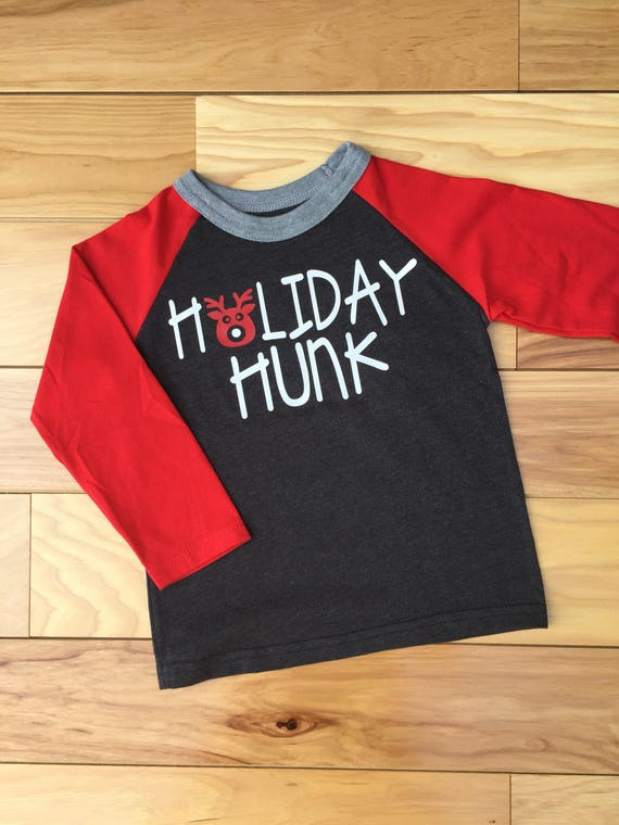 Toddler Boy Christmas Shirt Boy Christmas Shirt Holiday Hunk