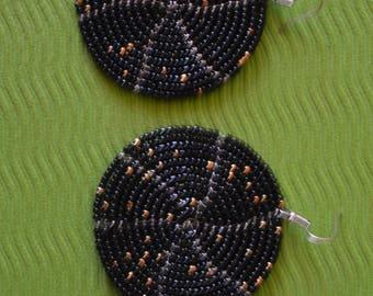 African Maasai Beaded Earrings | Black Earrings|Drop & Dangle Earrings |Tribal Earrings |Gift For Her | Elegant Earrings