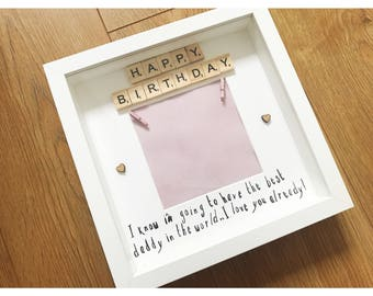 Beautiful birthday gift from bump, to daddy from bump, gifts from bump, present from bump, gift to dad, parent presents, mummy from bump
