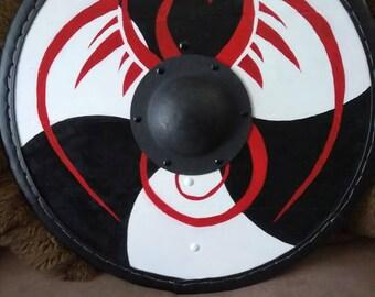 Red Dragon Viking Shield