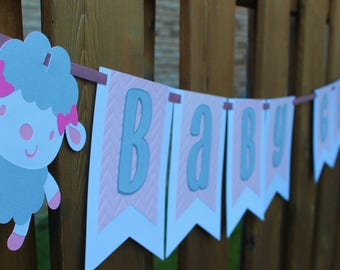 Baby Girl Shower Banner - Baby Shower Decoration - Gender Reveal Decoration - Baby Girl Banner - Baby Girl - It's a Girl - Welcome Baby