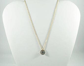 Stainless Steel With Zircon Necklaces. WHITE.