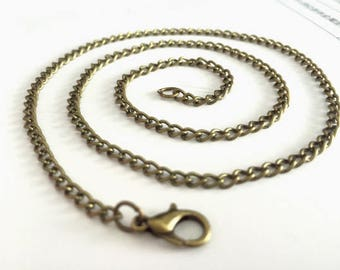 18-30inch adjustable---100pieces 3mmx2mm antique bronze 18-30inch adjustable flat cable necklace chains