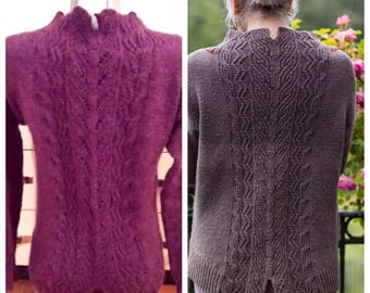 Women winter sweater.hand-knitted blouse.
