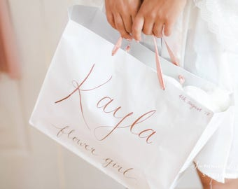 Personalised gift bags for bridal party