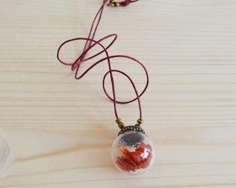 Heart bubble pendant necklace