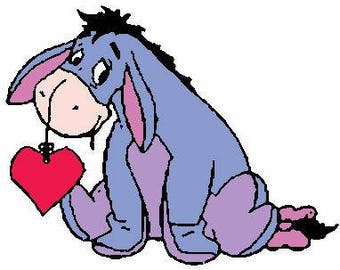 Eyore Love with Outline