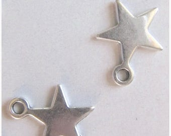 Solde -5% Beautification gem - set of 5 star, silver 12mm