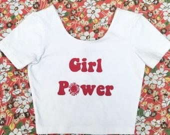 Girl Power Feminist Crop Top Tee