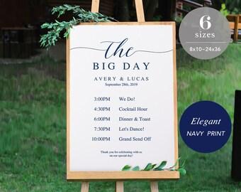 Wedding Timeline Sign Template, Wedding Program Sign Printable, Wedding Welcome Sign, Welcome Board PDF Template Instant Download #SPP008wtl