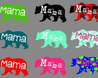 Mama bear buffalo plaid keychain