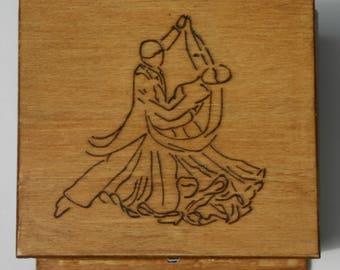 Decorative Wood Burned Box