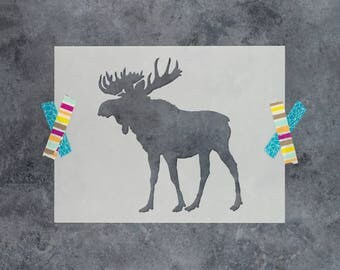 Moose Stencil - Reusable DIY Craft Stencils of a Moose