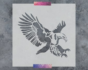 Eagle Stencil - Reusable DIY Craft Stencils of a Bald Eagle