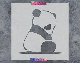 Panda Stencil - Reusable DIY Craft Stencils of a Panda Bear