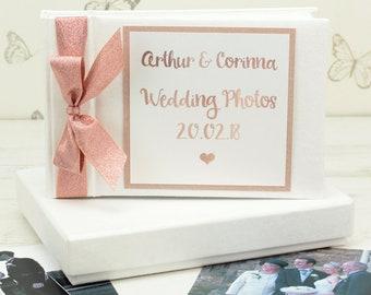 Personalised Rose Gold Wedding Photo Album