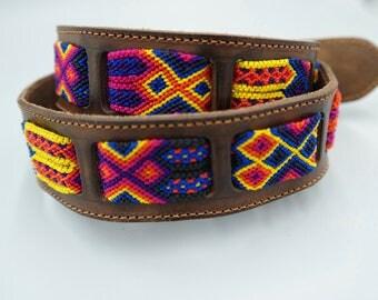 Woven Macrame Leather Belt SZ 34