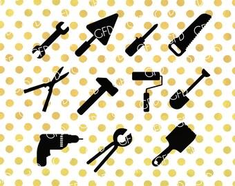Construction tools SVG, Construction SVG, Tools Bundle SVG, Construction Cut File, Instant Download, Svg, Dxf, Jpg, Eps, Png