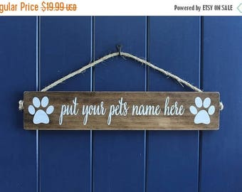 Dog Sign, Pet Name Sign, Dog Name Sign, Rustic Pet Sign, Dog Lover Sign, Pet Decor, Dog Name Sign,Kennel Decor,Dog Paw sign,Signs About Dog