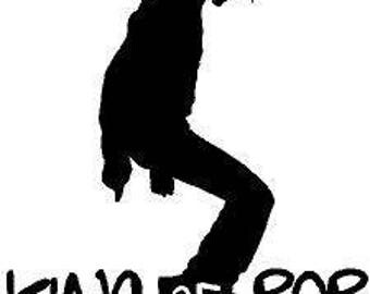 michael jackson king of pop wall decal sticker for home decor car laptop